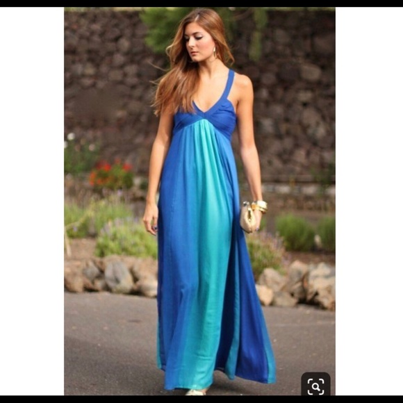 H&M Dresses & Skirts - H&M Blue Ombre Maxi Dress/Gown Size 4